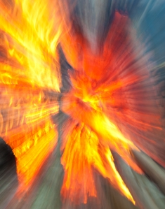 Explosion of fire