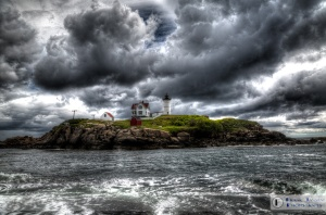 Cape Neddick, ME, is the location of Nubble Light an oft-photographed landmark.