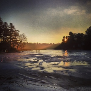 Early light over Rocky Pond