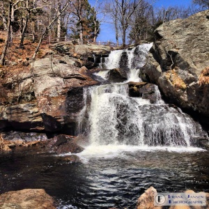 Chapman Falls in Devil's Hopyard State Park, East Haddam, CT.