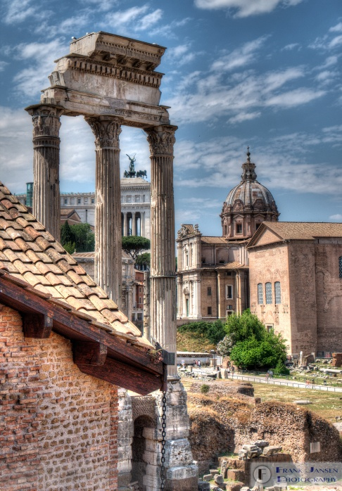 Looking across the Forum