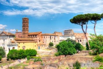 View toward Colosseum