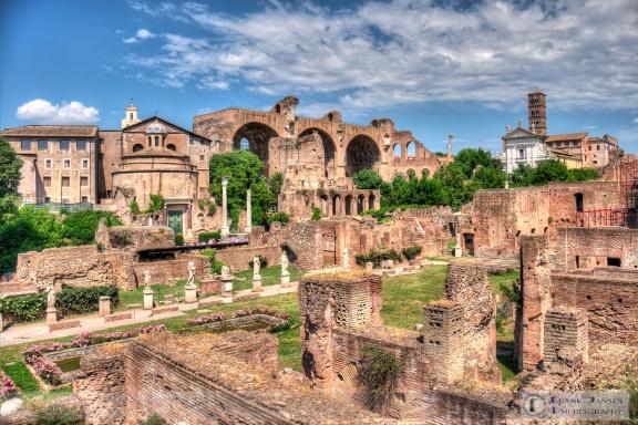 View across Palatine toward Maxentius