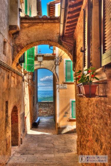 Looking through Montepulciano